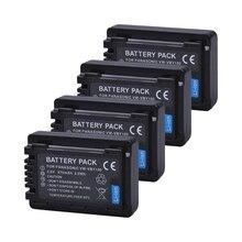 Tectra 4PCS/PACK VW-VBY100 VBY100 Li-ion Camera Battery for HC-V130 HC-V130K HC-V201 HC-V201K HC-V110 HC-V110K Camcorder