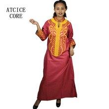 แอฟริกัน Bazin Riche การออกแบบเย็บปักถักร้อยชุดเดียวชุด LA066 #