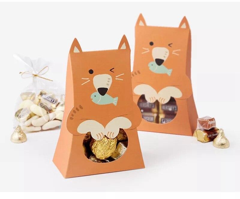 10 шт. 10x5x16.5 см милые коробка конфет шоколад сумка подарок Сумки мальчик Baby Shower сувенир дети день рождения украшения вечере