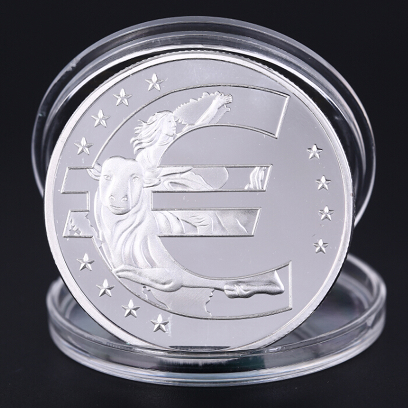 EU 12 Countries Member Silvery Commemorative Challenge Coin Physical Token
