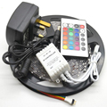 5M 3528 Non-Waterproof SMD LED Strip 300 leds 5m 3528 rgb led +24keys controller+12v2a Power adapter