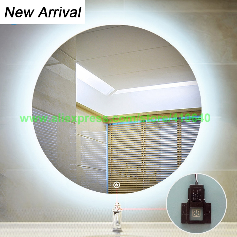 NEW ARRIVAL CAN ADJUST colder Or warmer LIGHT COLOUR Bathroom LED Mirror Sensor Switch Bathroom Mirror Touch Switch Dual Colour light mirror touch switch bathroom smart mirror switch led touch controller on mirror surface hot selling for hotel or bathroom