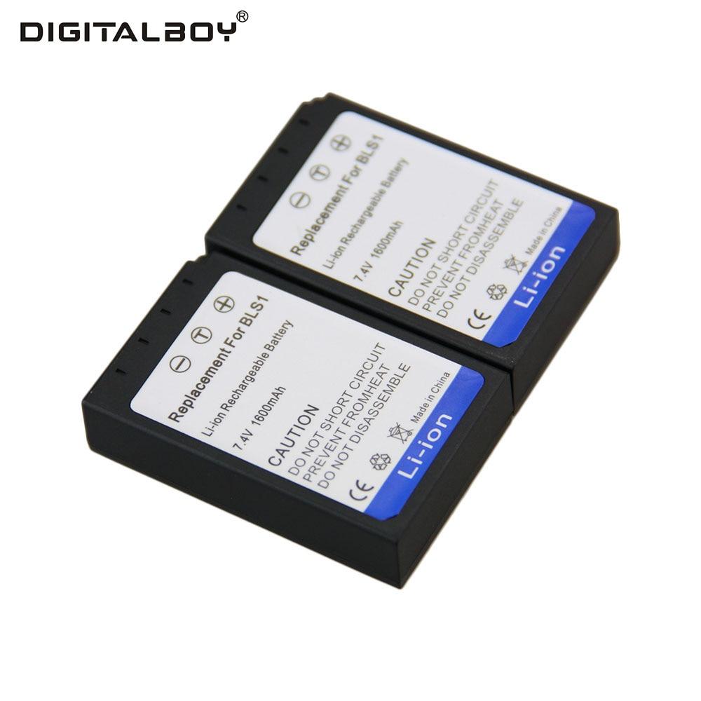 font b Digital b font Boy 2pcs Rechargeable Camera Battery BLS 1 BLS1 BLS 1