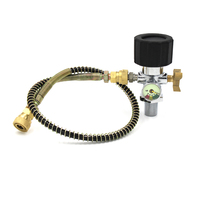 PCP Scuba Diving Refill Adapter Din Valve Filling Station M18x1.5 with 40mpa Gauge 50cm High Pressure Hose M10x1 Quick Fittings