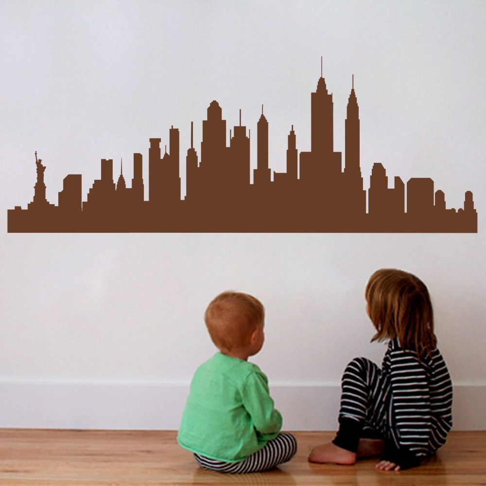 Blickfang New York Wandtattoo Dekoration Von City Nyc Skyline Stadtbild Travel Vacation Ziel