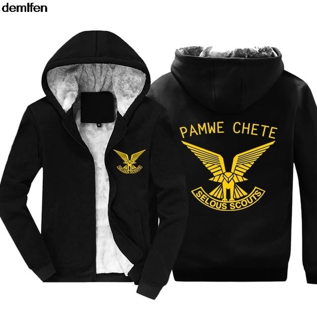 Rhodesian Army Pamwe Chete Selous Scouts Special Forces Hoodies Men s  Fashion Cotton Coat Hooded Keep Warm Sweatshirt 01cd74d78
