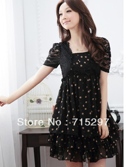 2013 Fashion women one-piece dress big size dress chiffon one-piece dress women cloth