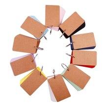 XRHYY 1 упаковка, многоцветное кольцо для переплета, легко перекидывающаяся флеш-карта, крафт-бумага, учебные карты, закладки/Сделай сам, поздравительная открытка/индексная открытка