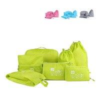 7Pcs Set Waterproof Clothes Travel Bag Luggage Underwear Bra Tidy Organizer Wash Toiletry Device Bag Make
