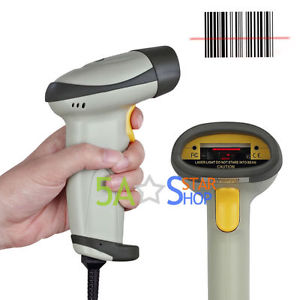 G601 Free Shipping Portable Laser Barcode Scanner Handheld Bar Code Reader Long Scan USB POS PC UK nt 2012 handheld barcode scanner reader usb wired 1d bar code scan for pos system
