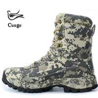 CUNGE Outdoor Tactical Sport Men's Shoes For Camping Climbing Men Hiking Boots Mountain Non slip waterproof Ultra light Shoes
