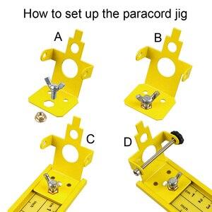 """Image 4 - سوار Paracord jig 2 """"إلى 47"""" قابل للتعديل من الألمونيوم مجموعة أدوات يدوية 2019 تصميم جديد للأماكن الخارجية 550 صانع الأساور Paracord"""