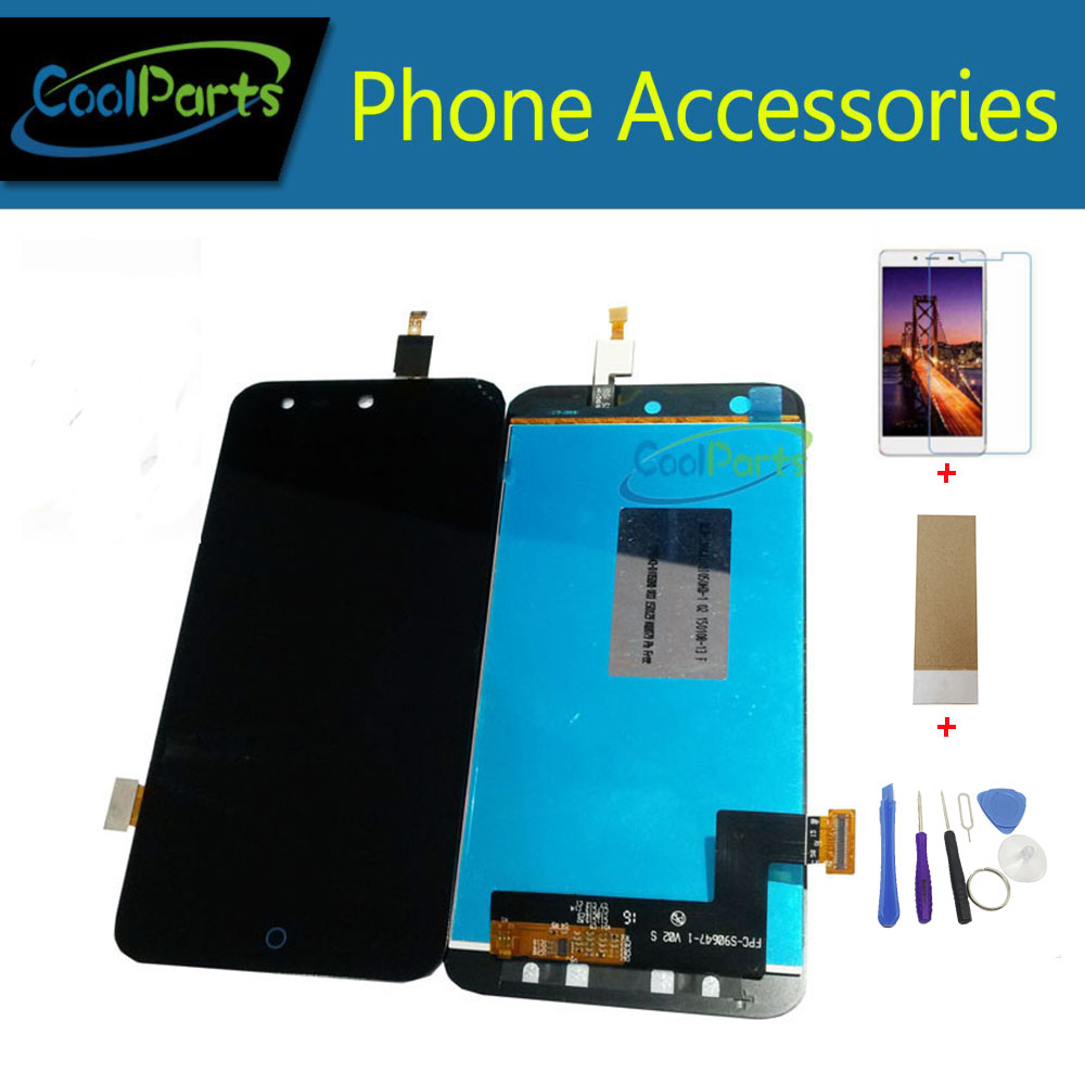 1PC/Lot High Quality For <font><b>ZTE</b></font> Blade X5 Blade D3 <font><b>T630</b></font> LCD Display Screen +Touch Screen Digitizer Black Color With Kits image