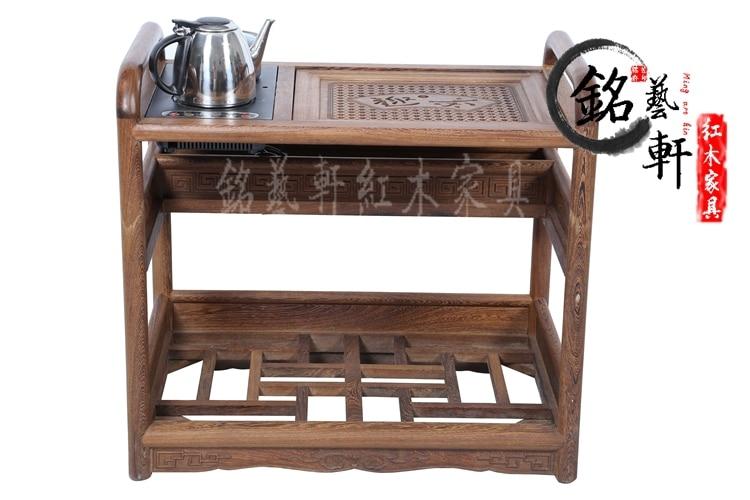 Cupboard mahogany furniture wenge wood Ming and Qing classical tea table small tea tables Cooker Cupboard pu er raw green tea 2006 six famous tea mountain yiwuyeshengchabeeng cake bing unfermented qing sheng cha 357g