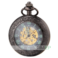 SEWOR Vintage Black Mesh Pocket Watch Luminous Case Automatic Mechanical Self Wind C137