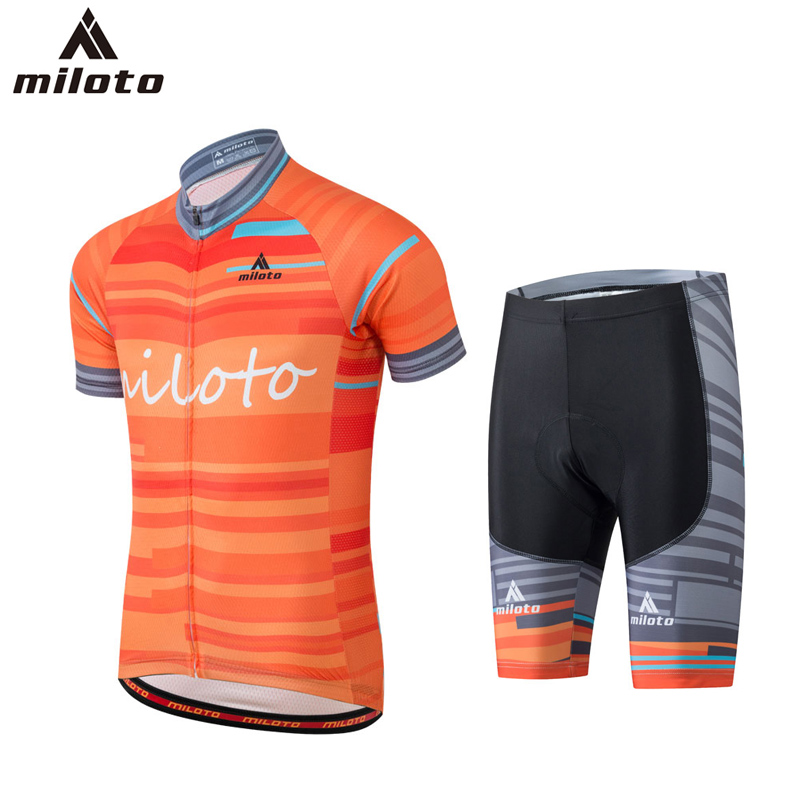 где купить Miloto mens cycling jersey ropa ciclismo Gel Breathable Pad Cycling Pants Racing Bicycle Clothing maillot Cycle Clothes Set Male по лучшей цене
