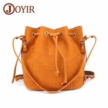 JOYIR Bucket Bag Women Handbags Shoulder Crossbody Bags Female Vintage Genuine Leather Multifunctional Daypack Bags For Women