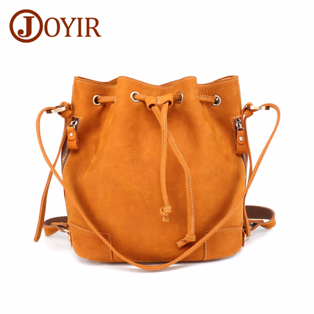 JOYIR sac seau femmes sacs à main épaule bandoulière sacs femme Vintage en cuir véritable multifonctionnel sac à dos sacs pour femmes