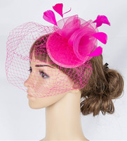 Multicolor crinoline fascinator cocktail headwear high quality mesh wedding headpiece free shipping suit for all season OF1537