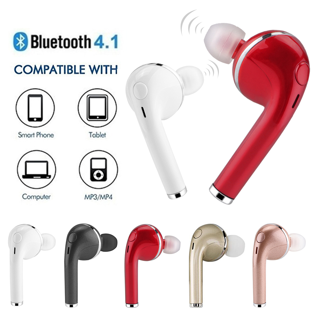 V4.1 Bluetooth Wireless Earphone Right Earpiece Mini Headphone Portable Handsfree Sports Hifi Music Headset with Mic For Phone
