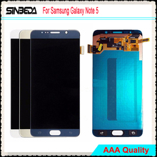 Sinbeda LCD Display Untuk Samsung Galaxy Note 5 N9200 N920F N920T N920A N920V N920C LCD Display Touch Screen Digitizer Penggantian