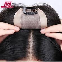 JINKAILI Топ кусок закрытие парик черный коричневый топ Натуральные Прямые волосы женские стойкие синтетические волосы кусок для женщин