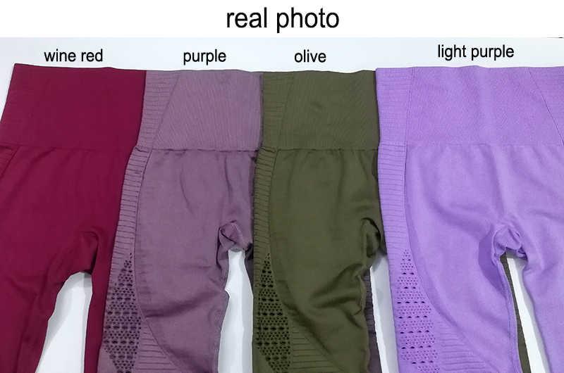 1ac09004f75fb ... LANTECH Women Yoga Pants Sports Running Sportswear Stretchy Fitness  Leggings Seamless Tummy Control Gym Compression Tights ...