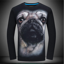 New Arrival 2017 Autumn Men 3D Printed Long Sleeve T-Shirt Animal Pattern Male Fashion hip hop Tshirt Unisex Shirts Streetwear