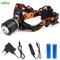 Waterproof CREE T6 LED Headlight Flashlight Frontal Lantern Zoomable Head Torch Light Bike Riding Headlamp For 18650 battery