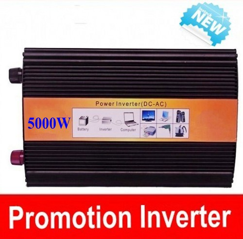 Digital Volt Display AC Inverter Solar Inverter 5000Watt / 5000W 12/24/48VDC to 110/220VAC 10000W Peak Pure Sine Wave Power Inve
