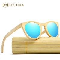 KITHDIA Handmade Polarized Wooden Bamboo Sunglasses Women Sun Glasses Retro Vintage Sunglasses Brand Designer KD026