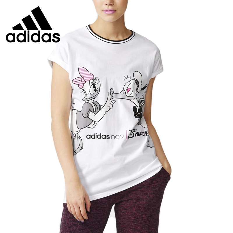 цены  Original New Arrival  Adidas NEO Label  Women's Long section Printed T-shirts short sleeve Sportswear