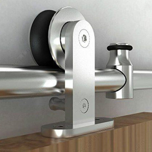 Modern Interior Sliding Barn Door Kit Hardware Set Stainless Steel