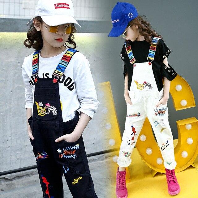 2018 новая Корейская версия большой повседневные штаны для детей Одежда весна-осень девочек прилив мультфильм комбинезоны для девочек Комбинезон