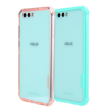 Hybrid Shockproof Cover Air Cushion Frame Case With Crystal Clear Hard Back Shell For Asus Zenfone 4 ZE554KL 5.5inch Fundas Capa