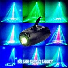 Горячая 4 шт. МИНИ Лазерный Проектор 64 RGBW Свет Диско DJ DMX Голосовое Управление Светодиодные PAR Strobescope в Стадии Эффект Освещения