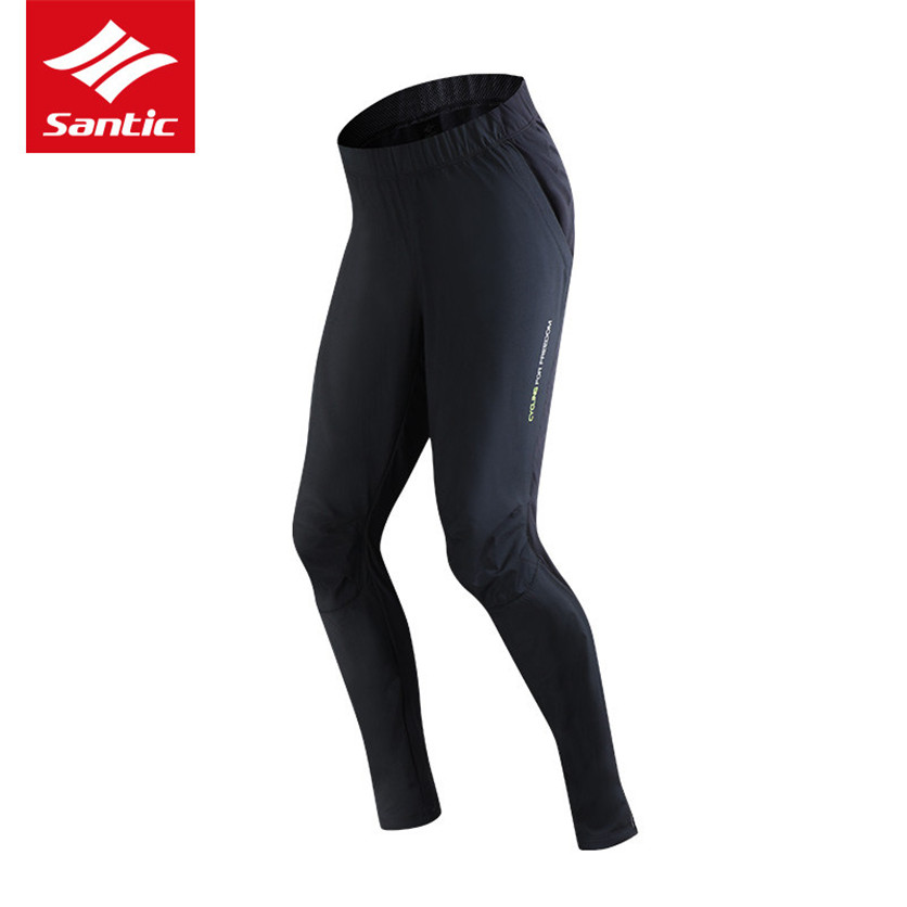 Santic Cycling Pants Winter Windproof Warm Up Sport Running Trousers Bicycle Bike Pants Men's Clothing Temperature 0-8 hot new 2017 winter cycling pants warm up fleece thermal bicycle mtb mountain bike pants waterproof windproof sports