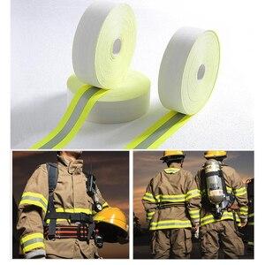 Image 4 - 5 センチメートル幅反射火炎 retardatn テープ黄色シルバーと 100% 綿手袋用送料無料