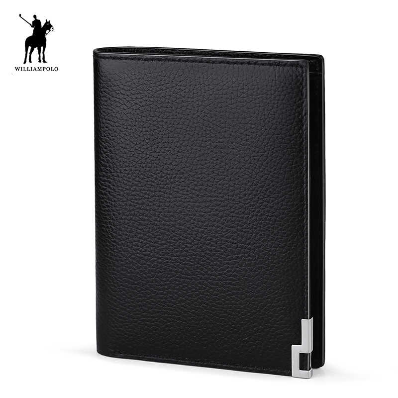 WILLIAMPOLO модный мини-кошелек без молнии кожаный 8 кредитница, кошелек PL168