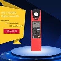 UNI T UT382 Digital Luxmeter Light Meter Lux/FC Meter Auto range 1999 20000 Luxcount Luminometer Data storage USB interface