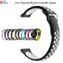Sport Silicone Wrist Strap for Xiaomi Huami Amazfit Smart Watch Replacement Band 22mm Smartwatch for Samsung Gear S3 Watch Strap watch band for 22mm samsung gear s3 real leather with silicone watch strap for huawei watch 2pro wrist belt for huami amazfit 1