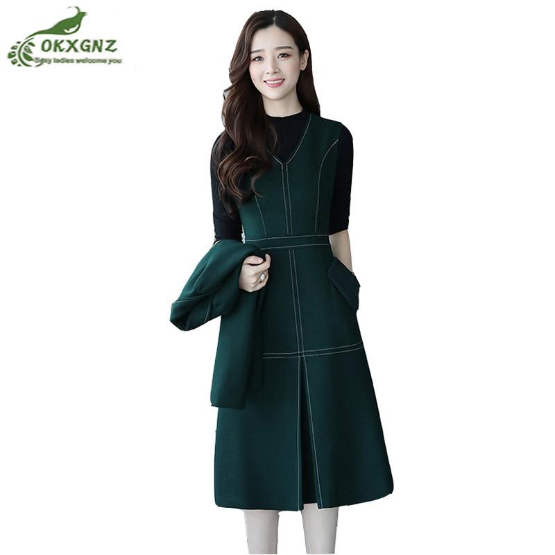 Здесь продается  High quality New winter wool woolen skirts Set women large-size fashion suit women fall two-piece skirt women tide OKXGNZ AF406  Одежда и аксессуары