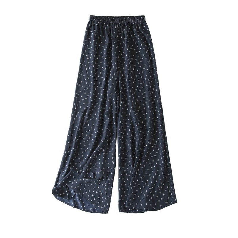 Vintage Women Summer Spring Natural Silk   Pants   Silk Loose Style Trousers Work Wear OL Fashion Holiday   wide     leg     Pants
