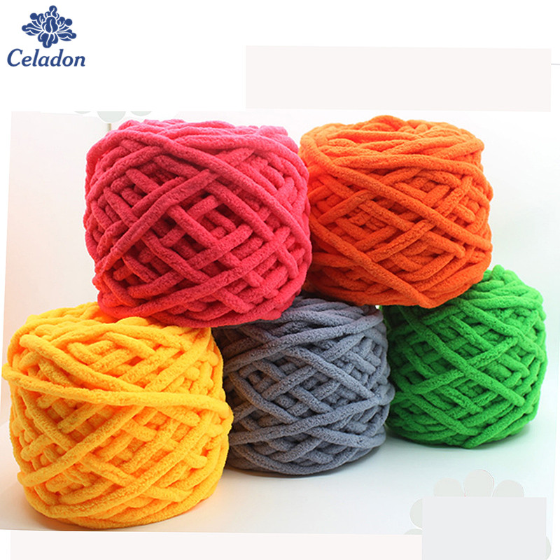 2pcs Bag Multi Color Dyed Scarf Hand Knitted Yarn For Hand