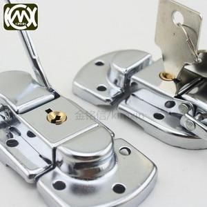 Image 4 - 10pc 34*60mm High grade Box buckle Equipmentcasees lock Flightcase with key locks Iron hasp Locking latch Wholesale KMX W 161