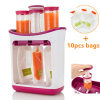 Infant Baby Food Maker Squeeze Juice Station Fresh Fruit Juice Containers Storage Supplies Manual Baby Food Juicer Maker Organic