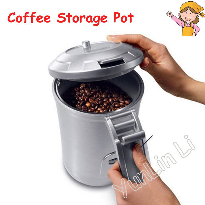 Vacuum Coffee Bean Storage Tank 1.6L Coffee Bean Canister Vacuum Coffee Bean Canister Coffee Beans Storage Canister 500g brazil santos green coffee beans high quality original green slimming coffee tea green coffee bean lose weight