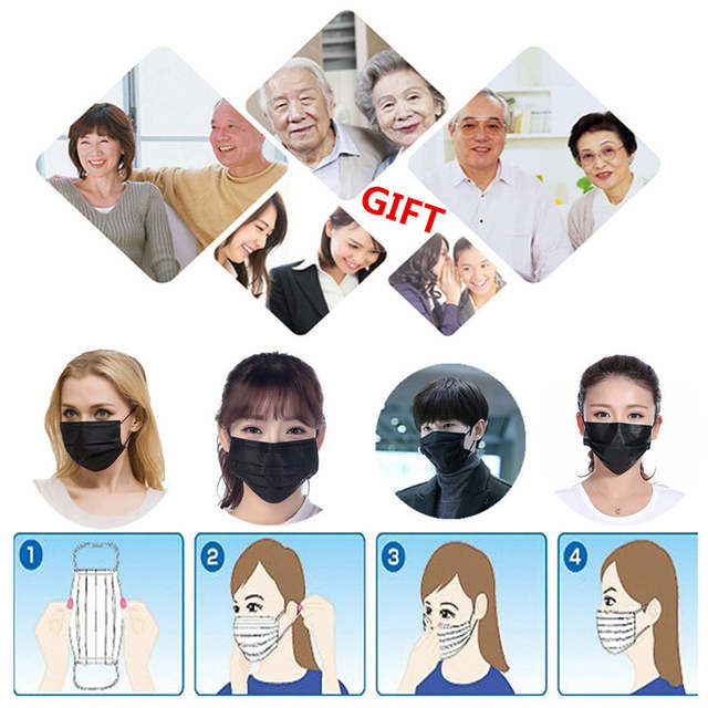 disposable four layer activated carbon filter face masks