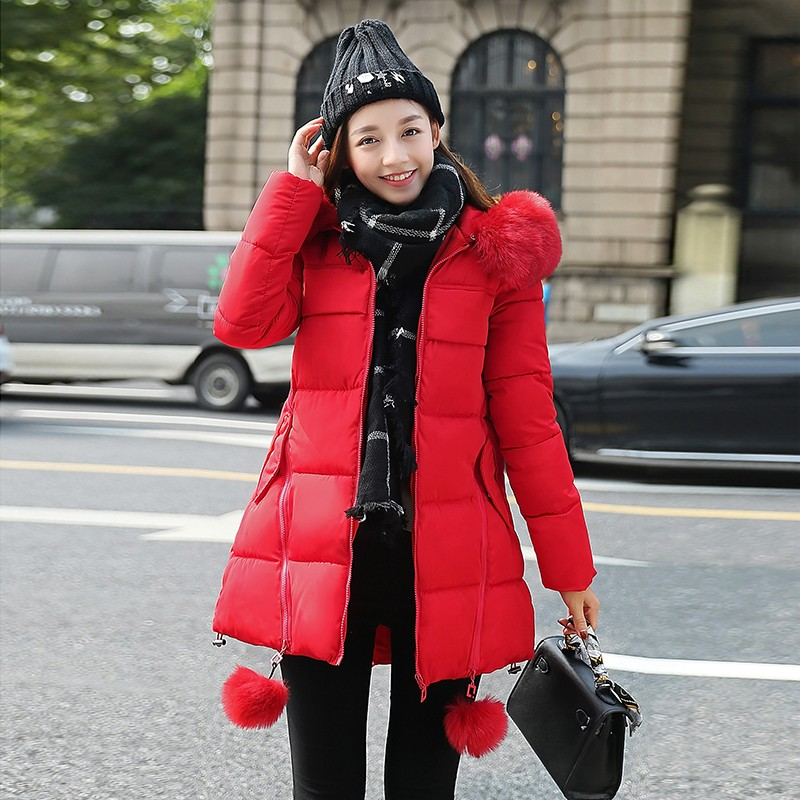 OLGITUM-2016-NEW-Winter-Long-Cotton-Padded-Women-Fur-Collar-Coat-Star-Wadded-Solid-Jacket-Warm (2)