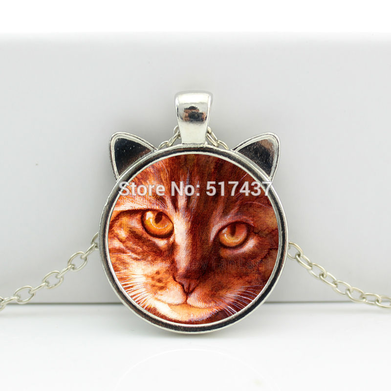 2017 New hot New Paul The  Necklace Paul The  Pendant Jewelry Glass Cabochon Necklace Pendant HZ2
